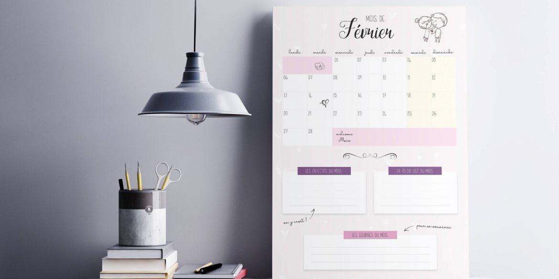 mockup calendrier fevrier