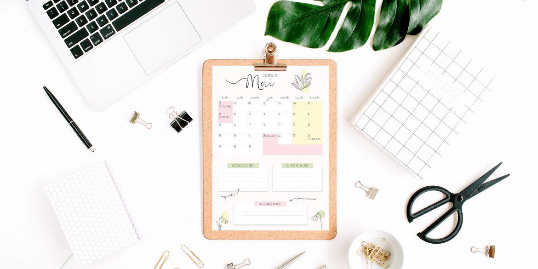Mockup calendrier Mai 2017