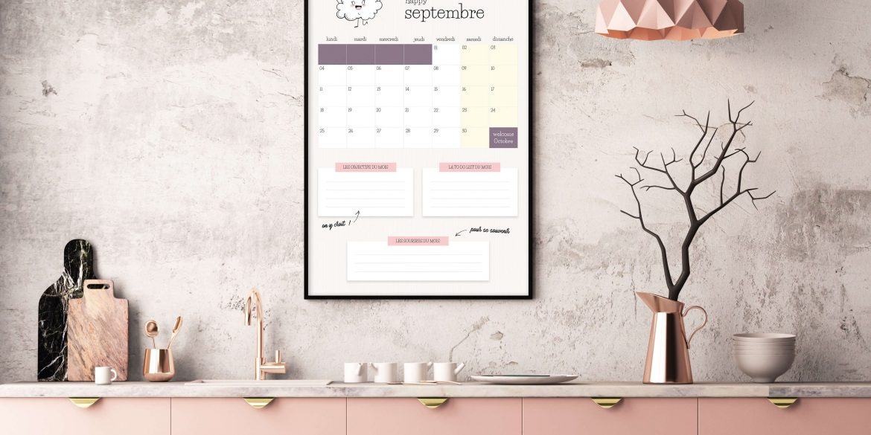 mockup calendrier Septembre 2017