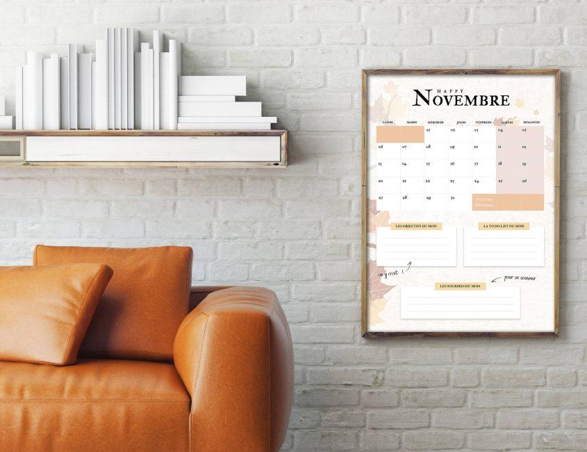 mockup calendrier Novembre 2017