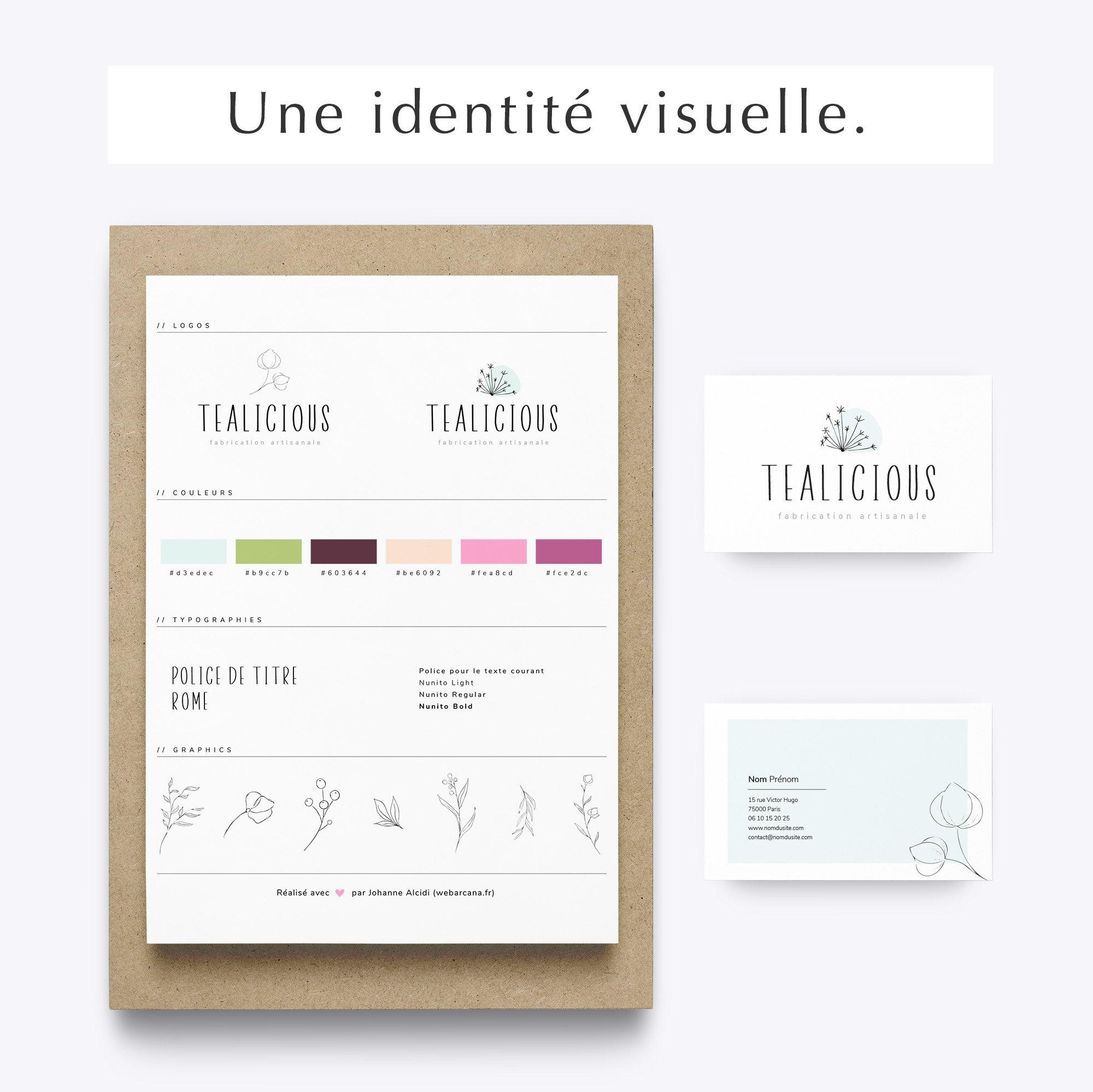 Pack Web entrepreneuse artisan - identité visuelle