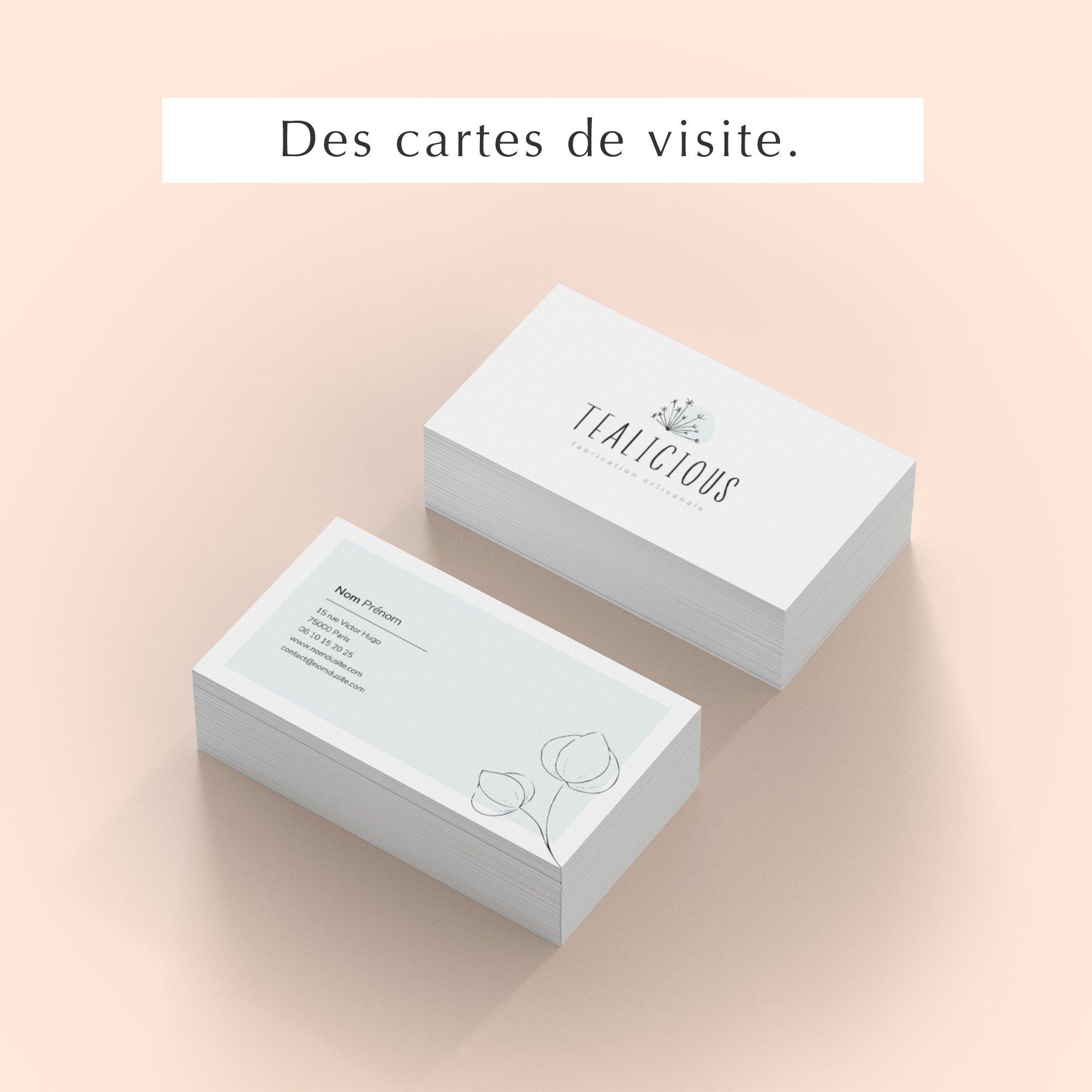 Pack web entrepreneuse artisan cartes visite