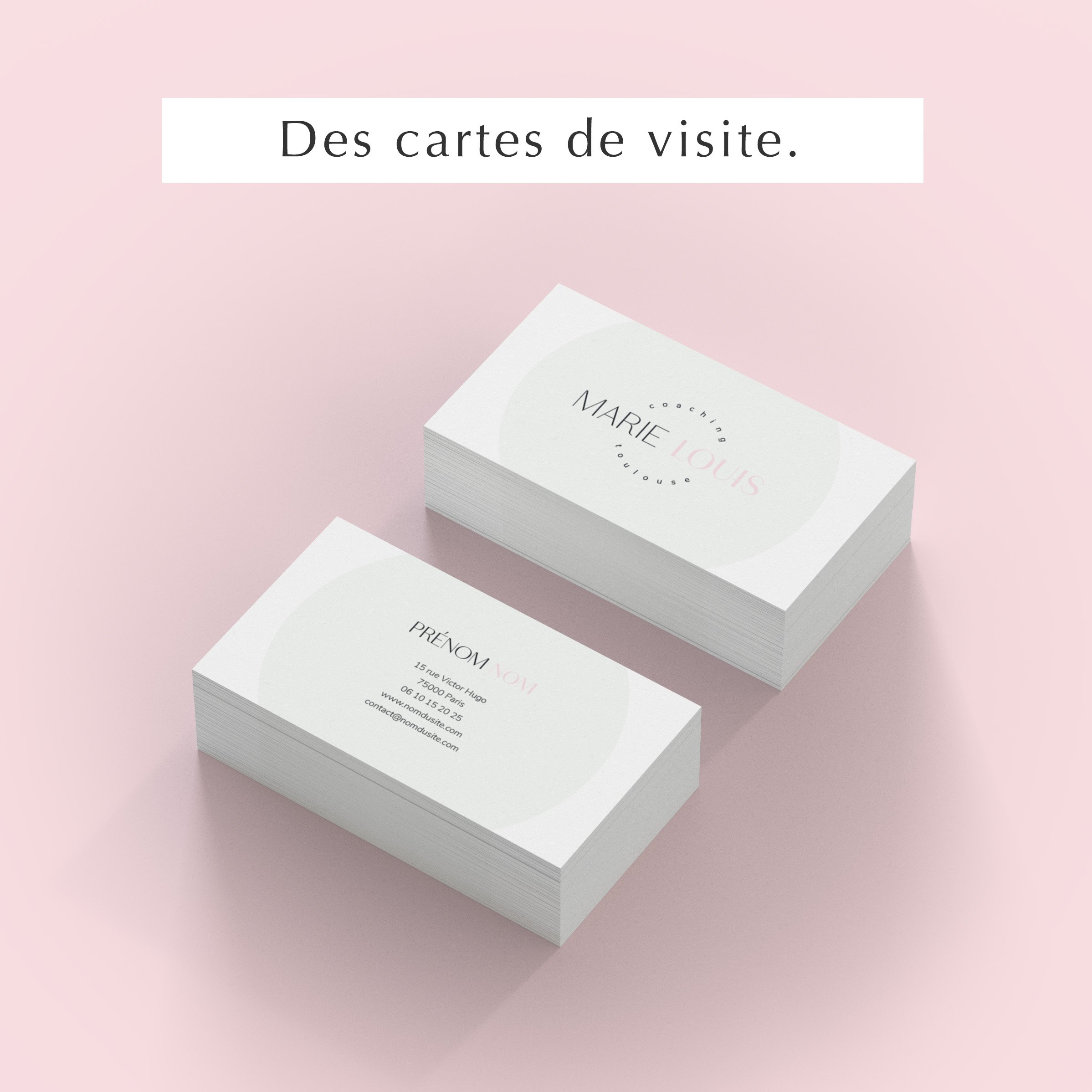 Pack web entrepreneuse bien-être cartes visite