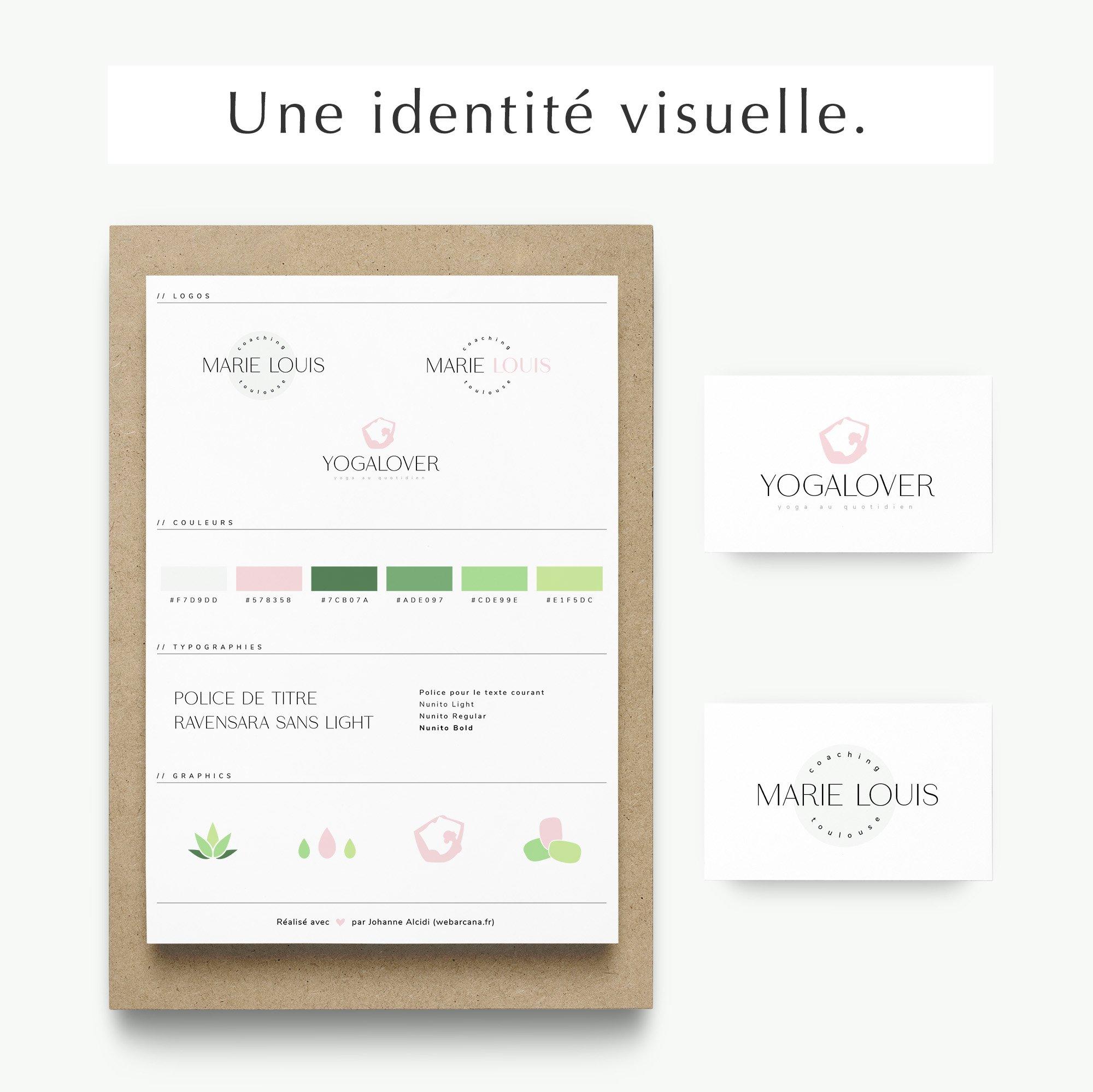Pack web entrepreneuse bien-être identité visuelle