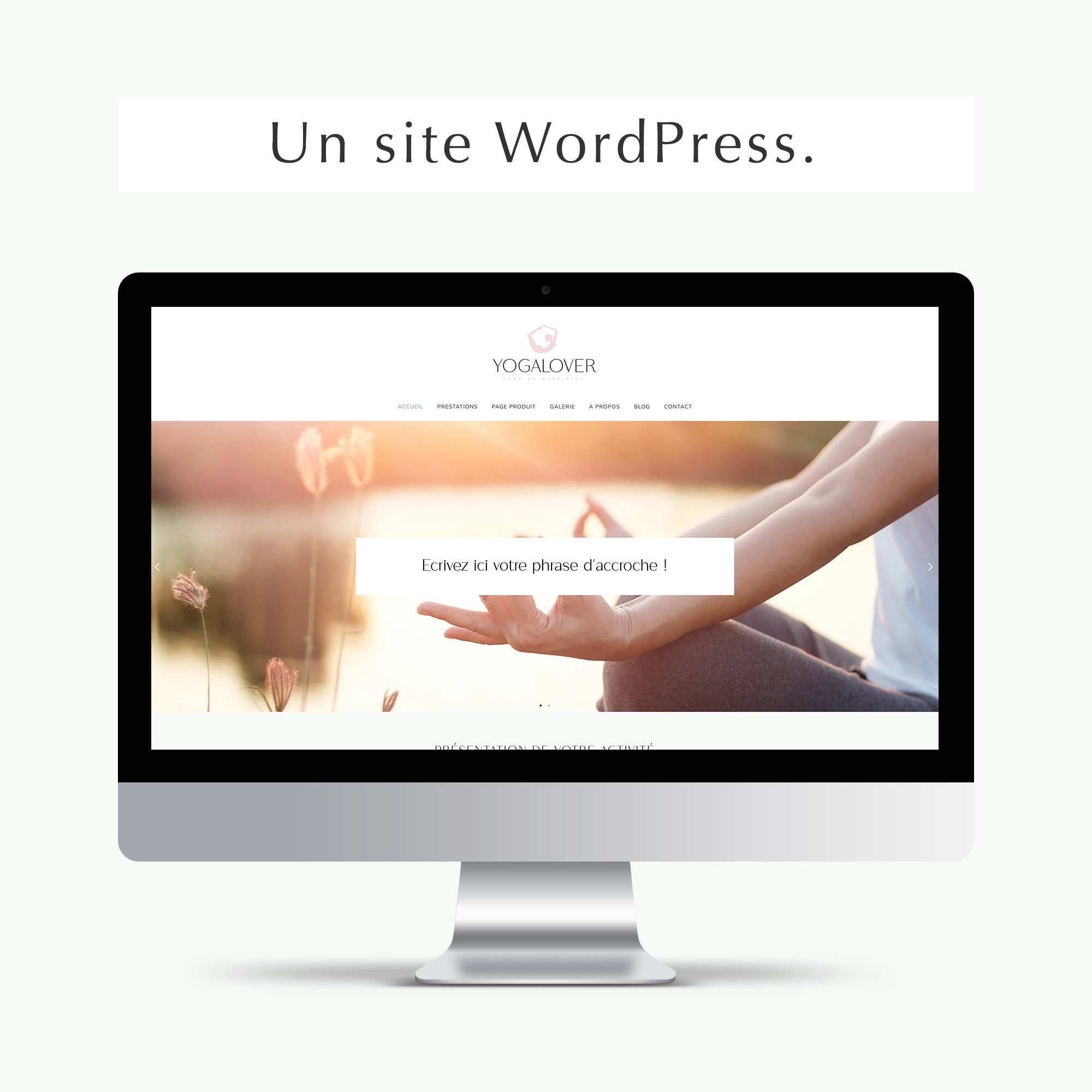 Pack web entrepreneuse bien-être site wordpress