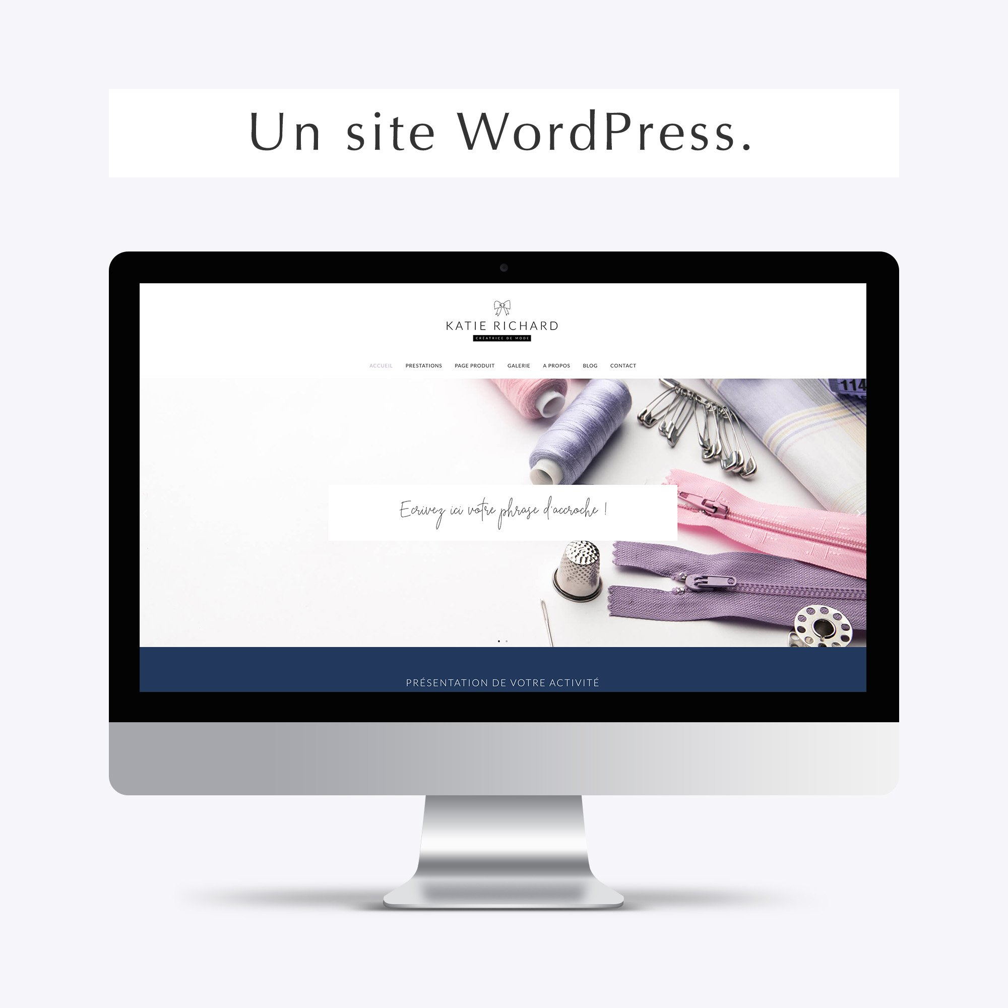 Pack web entrepreneuse mode beauté site wordpress