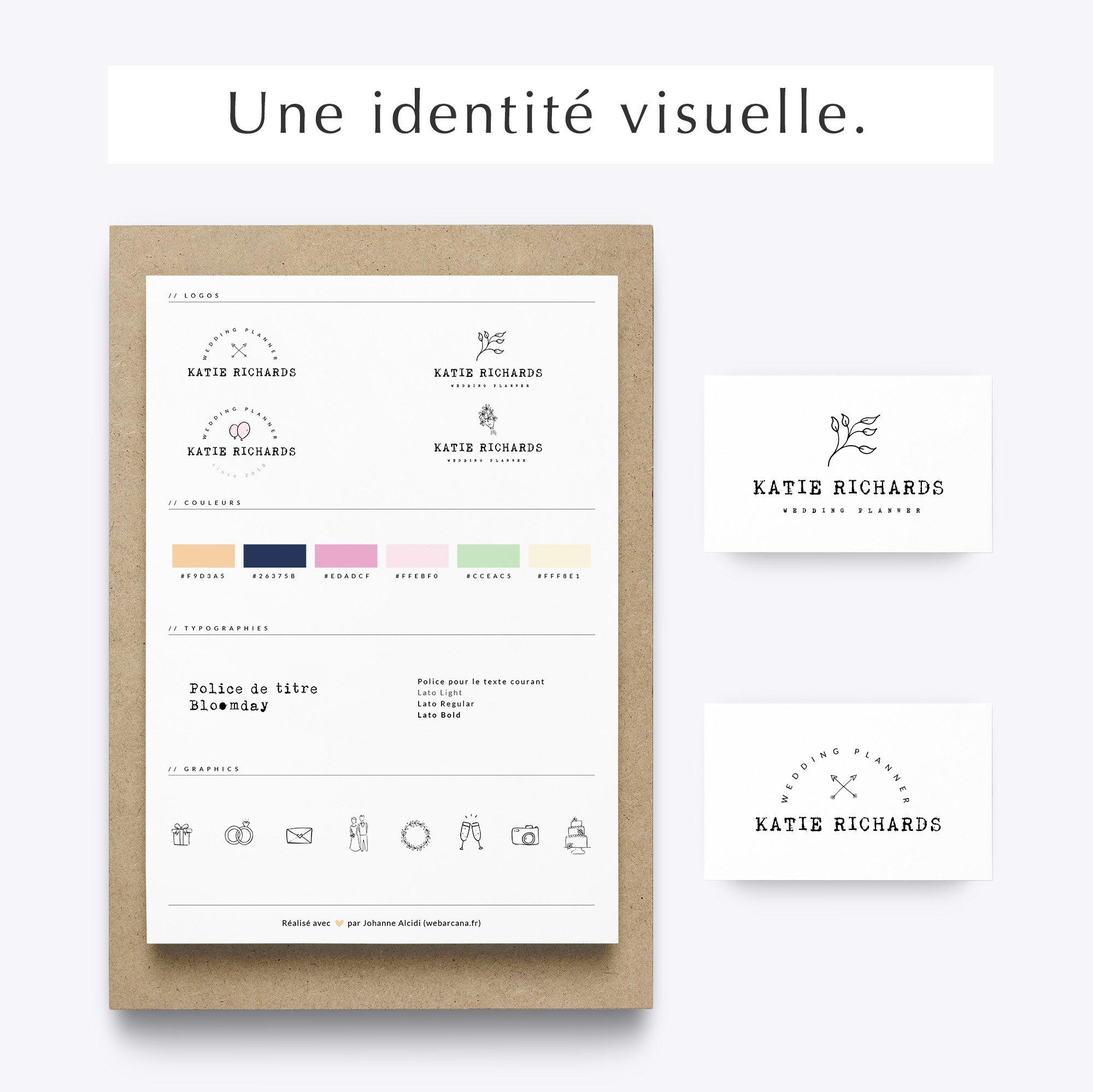Pack web entrepreneuse vintage identité visuelle