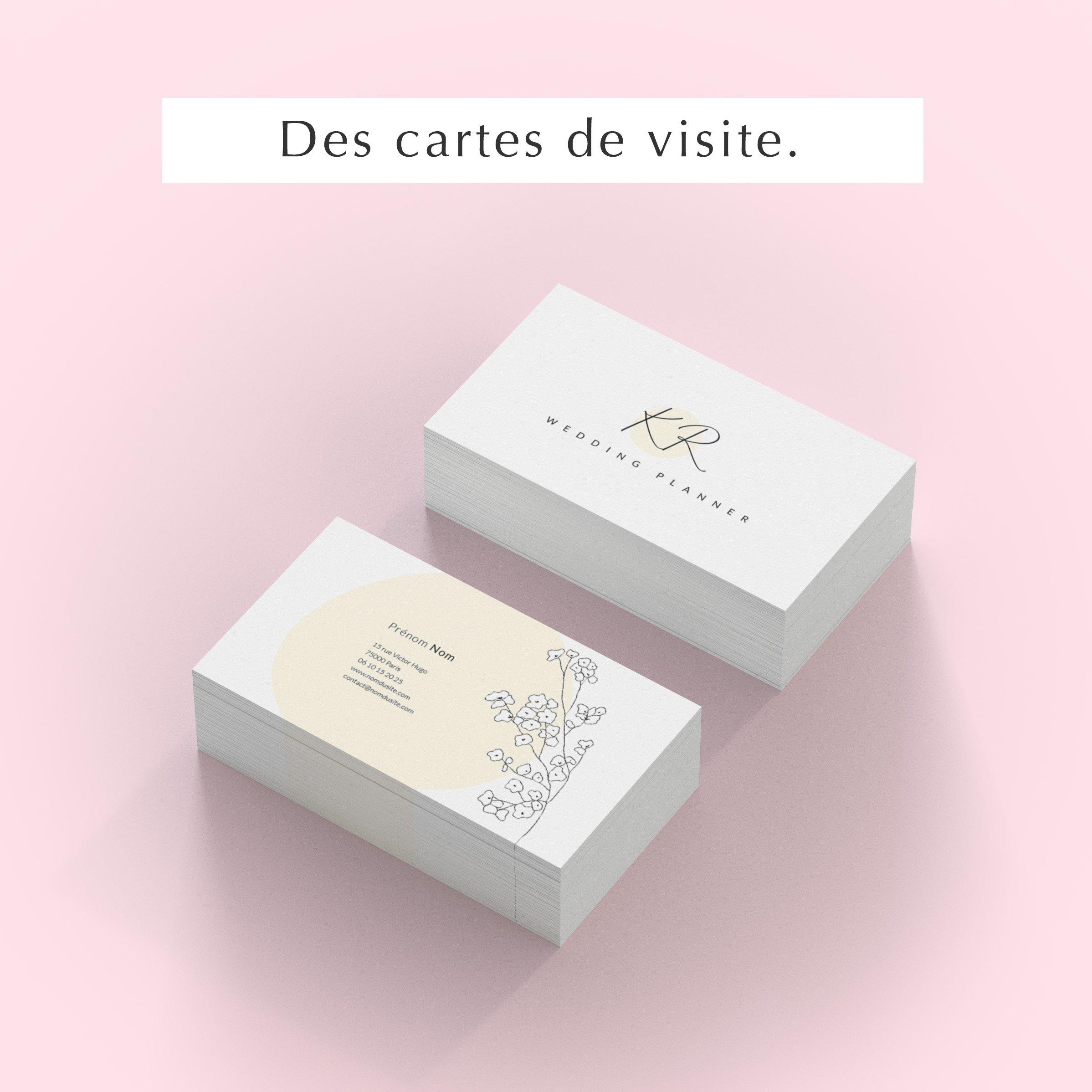 Pack web entrepreneuse wedding cartes visite