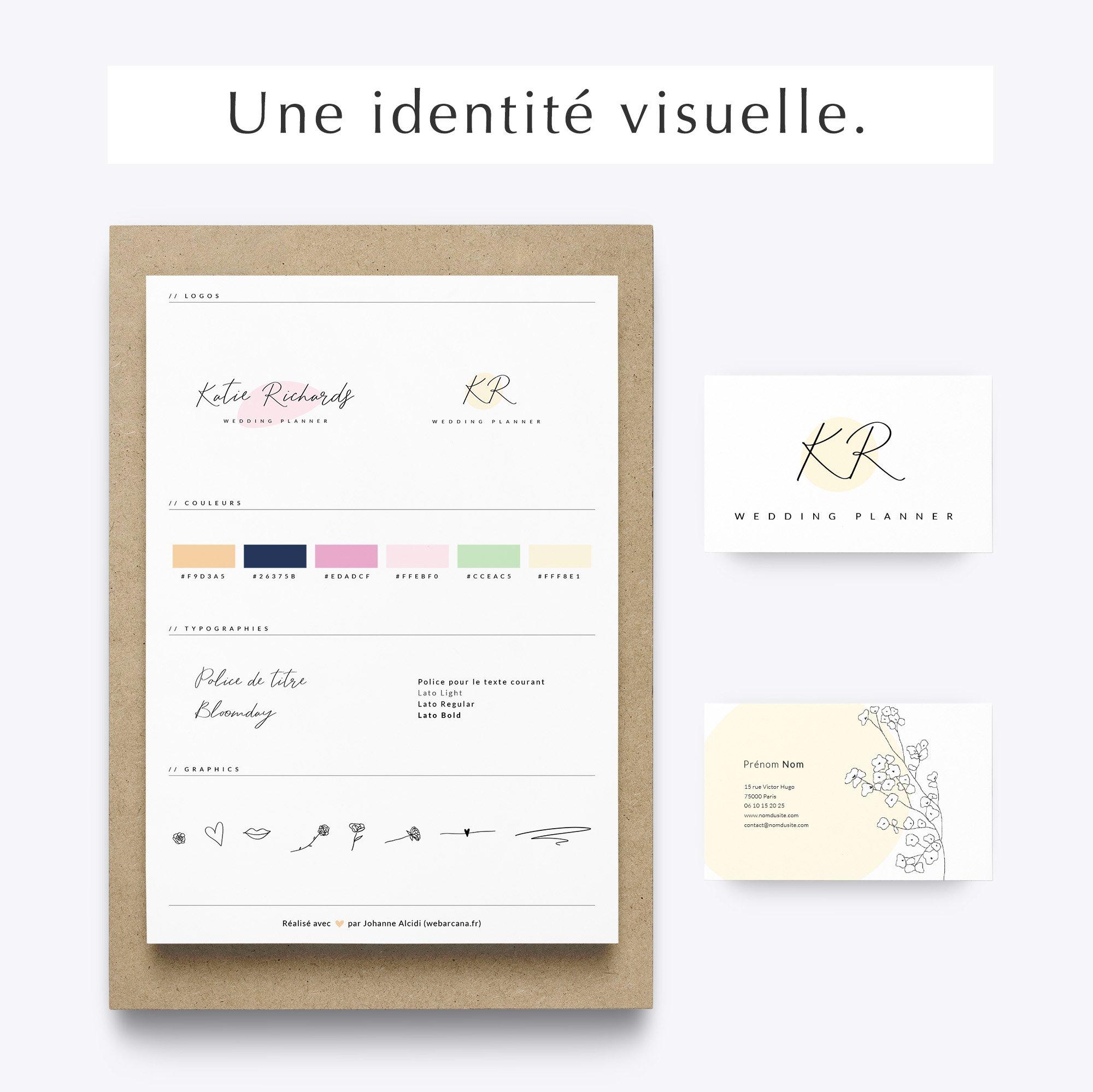 Pack web entrepreneuse wedding identité visuelle