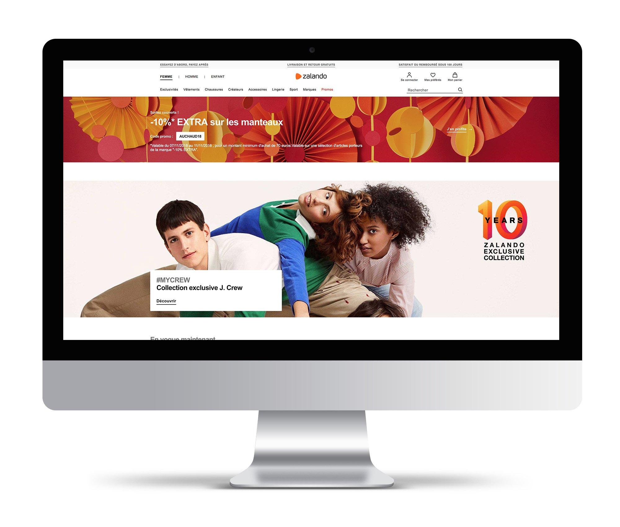 zalando effet wow webdesign