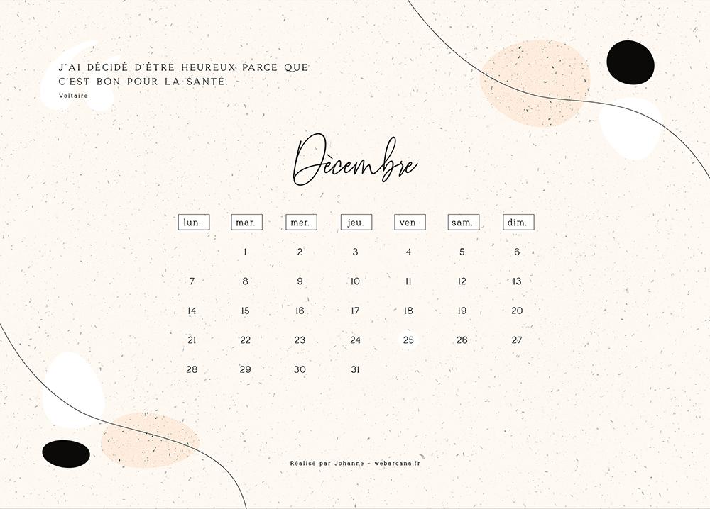 calendrier 2020 Novembre